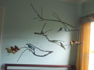 DIY Bird Mobile by Julia Dziuba, Full view