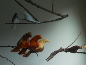 DIY Bird Mobile by Julia Dziuba, Birds upclose