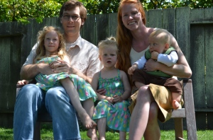 Julia Dziuba's family, April, 2014.